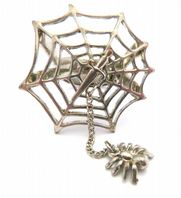 Spider Web Dagger And Dangling Spider Ring.